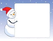 Bordo/blocco per grafici del pupazzo di neve Fotografia Stock
