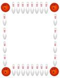 Bordo/blocco per grafici di bowling illustrazione di stock