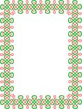 bordo celtico Verde-e-rosso 8 Fotografie Stock