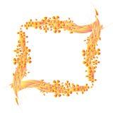 Bordo con i fiori di gradiente Immagini Stock Libere da Diritti