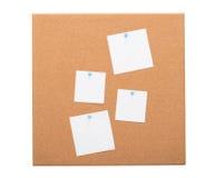 Bordo d'annata del sughero con carta per appunti Fotografia Stock Libera da Diritti
