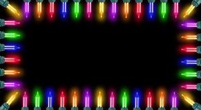 Bordo d'ardore degli indicatori luminosi di natale Fotografia Stock