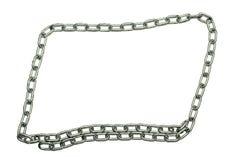 Bordo d'argento della catena del metallo Immagini Stock