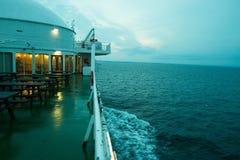 A bordo de uma balsa Fotografia de Stock Royalty Free