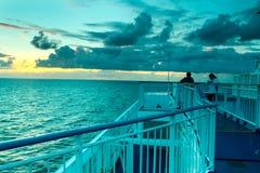 A bordo de uma balsa Imagem de Stock