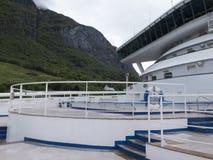 A bordo de un barco de cruceros Imagen de archivo libre de regalías