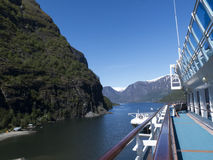 A bordo de un barco de cruceros Fotografía de archivo