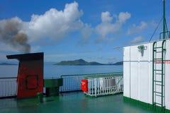 A bordo de una nave Imagenes de archivo