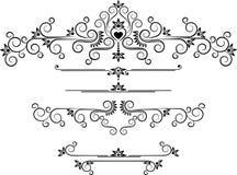 Bordo decorativo dell'ornamento. Arti grafiche. Fotografia Stock