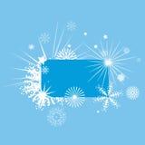 Bordo decorato di inverno Fotografia Stock Libera da Diritti