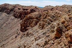 Bordo dei crateri Immagini Stock Libere da Diritti