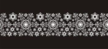 Bordo dei fiocchi di neve Fotografia Stock