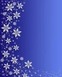 Bordo dei fiocchi di neve di natale Immagine Stock