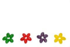 Bordo dei fiori dei fagioli di gelatina Immagini Stock