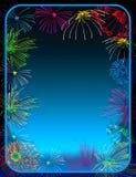 Bordo dei fuochi d'artificio Immagini Stock Libere da Diritti