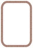 Bordo del binario ferroviario Fotografia Stock