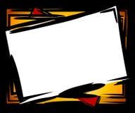Bordo del blocco per grafici inclinato estratto Immagini Stock