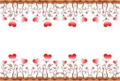 Bordo del cuore del foglio Immagini Stock