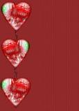 Bordo del cuore su documento Fotografie Stock Libere da Diritti