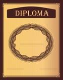 Bordo del diploma Imagen de archivo libre de regalías