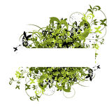 Bordo del fiore per testo Fotografie Stock Libere da Diritti