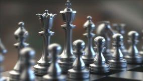 Bordo del gioco dei pezzi degli scacchi