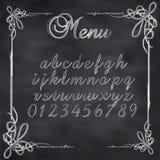 Bordo del menu schizzato vettore illustrazione vettoriale