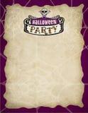 Bordo del partito di Halloween Fotografia Stock Libera da Diritti