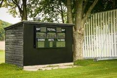 Bordo del punteggio del cricket Immagini Stock Libere da Diritti