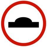 Bordo del segnale stradale della collinetta Fotografie Stock Libere da Diritti