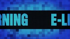Bordo del segno dell'esposizione di pannello della parete di Front Text Scrolling LED di e-learning video d archivio