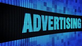 Bordo del segno dell'esposizione di pannello della parete di scorrimento LED del testo del lato dell'agenzia di pubblicità video d archivio