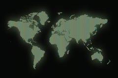 Bordo del segno della mappa di mondo Immagine Stock Libera da Diritti