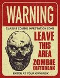 Bordo del segno di scoppio dello zombie del manifesto Immagine Stock