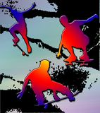 Bordo del skateboarder illustrazione vettoriale