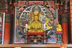 Bordo del tempio della Corea Busan Beomeosa fotografia stock