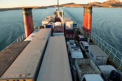 A bordo del traghetto di TMC dal La Paz a Mazatlan Fotografie Stock Libere da Diritti