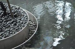 Bordo dell'acciaio della caratteristica dell'acqua Immagine Stock
