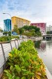 Bordo dell'alloggio e di sviluppo di Singapore, il centro di Rochor avanti Immagine Stock