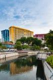 Bordo dell'alloggio e di sviluppo di Singapore, il centro di Rochor avanti Immagini Stock Libere da Diritti