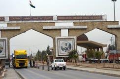 Bordo dell'Iraq Turchia fotografia stock libera da diritti