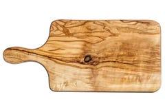 Bordo della cucina di legno verde oliva Immagine Stock Libera da Diritti