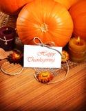 Bordo della decorazione di festa di ringraziamento Fotografia Stock