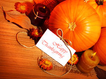Bordo della decorazione di festa di ringraziamento Fotografia Stock Libera da Diritti