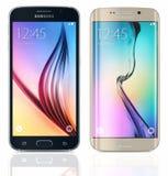 Bordo della galassia S6 e della galassia S6 di Samsung Immagini Stock Libere da Diritti