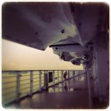A bordo della nave - triste Immagine Stock