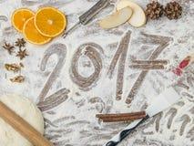 Bordo della pasticceria delle nonne con sottotitolo 2017 Fotografie Stock