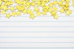 Bordo della stella dell'oro Fotografia Stock