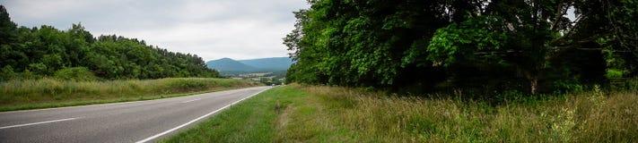 Bordo della strada la Virginia del Nord--panorama Fotografia Stock Libera da Diritti