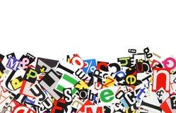 Bordo delle lettere fotografia stock libera da diritti